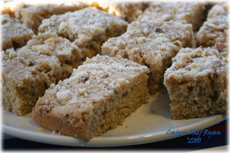 Buttermilk Coffee Cake ~ Cajun Chef Ryan