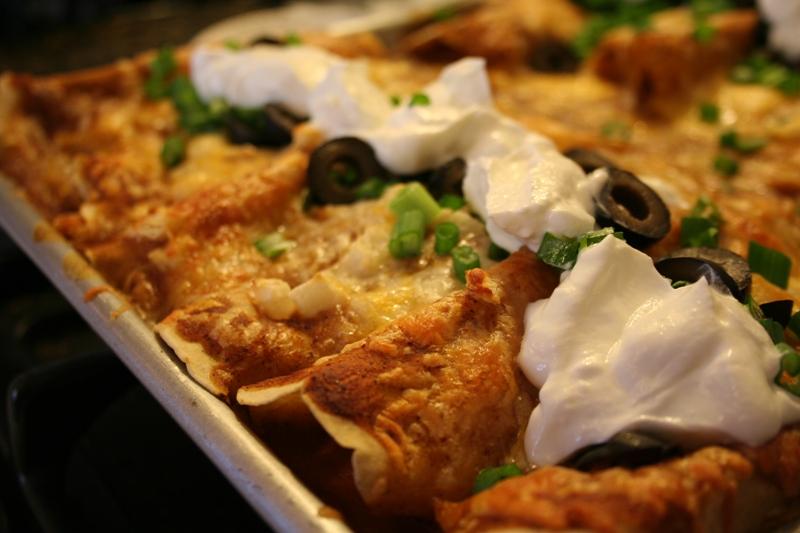 Chicken Enchilades