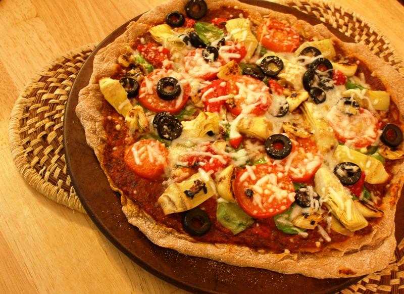 Vegetarian Pizza ~ Cajun Chef Ryan