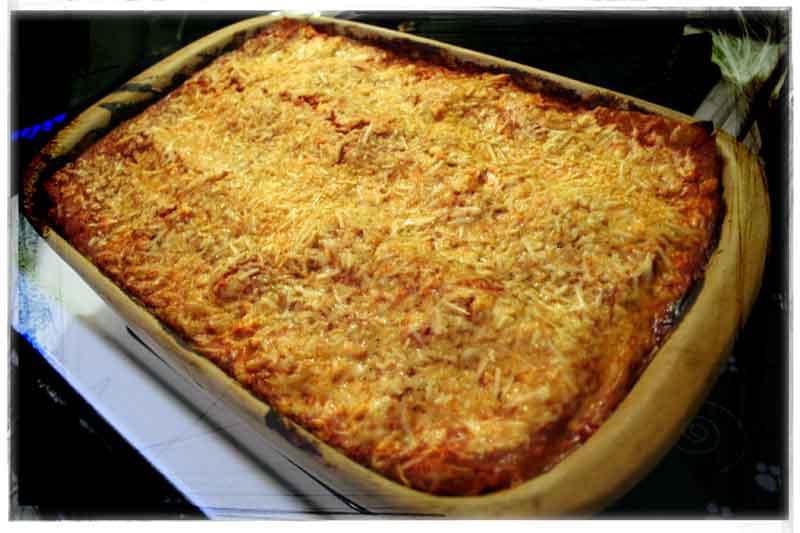 East Meets West Lasagna in pan image