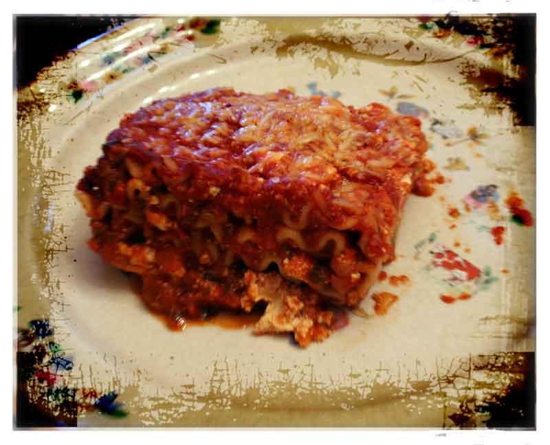 East Meets West Lasagna Portion image