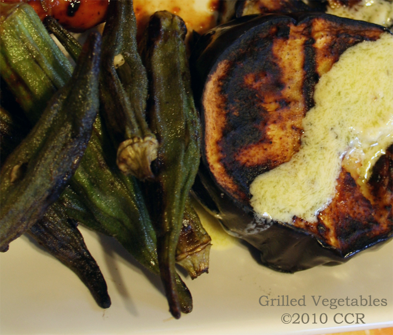 Grilled Vegetable Plate with Sour Cream Sauce