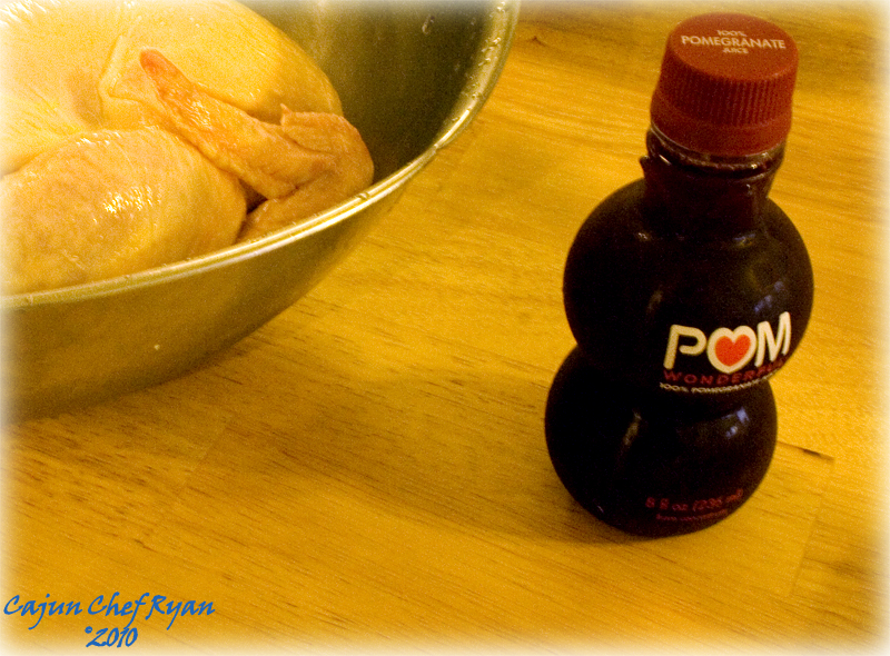 Pom Juice and Whole Chicken