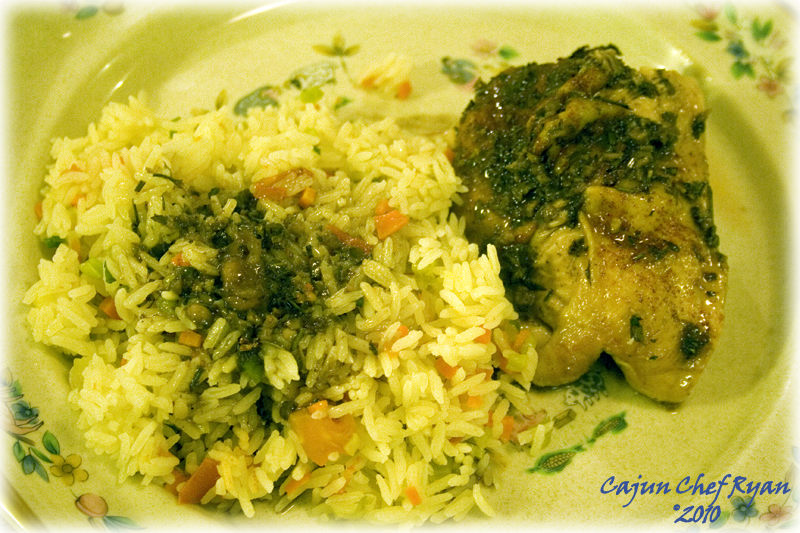 Herb Roasted Citrus Chicken with Basmati Rice Pilaf