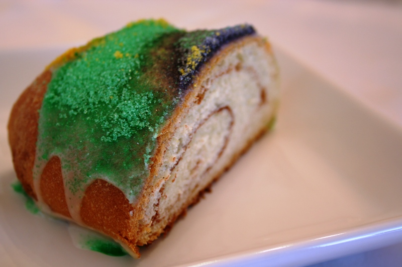 A slice of King Cake