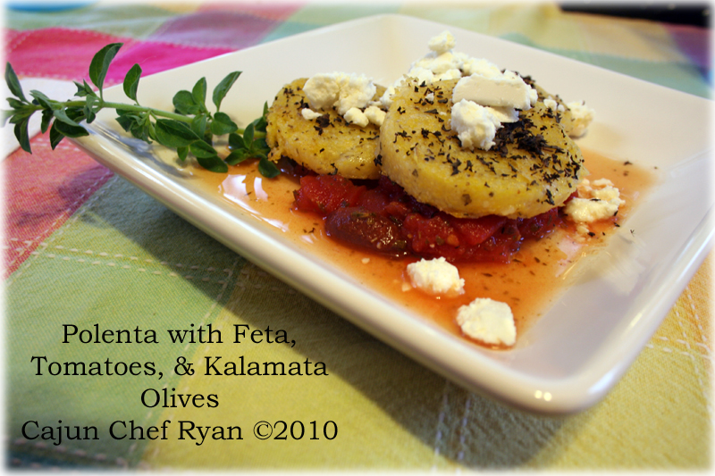 Polenta with Feta, Tomatoes, and Kalamata Olives