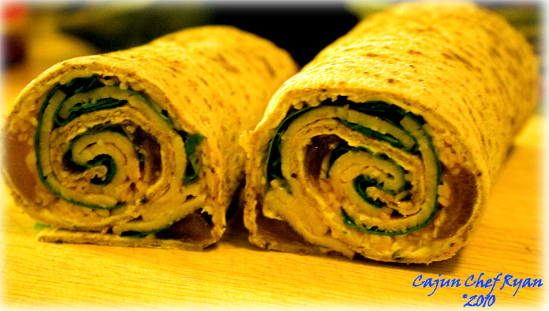 Peachy Turkey Wrap