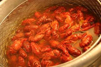 Boiled Crawfish ready